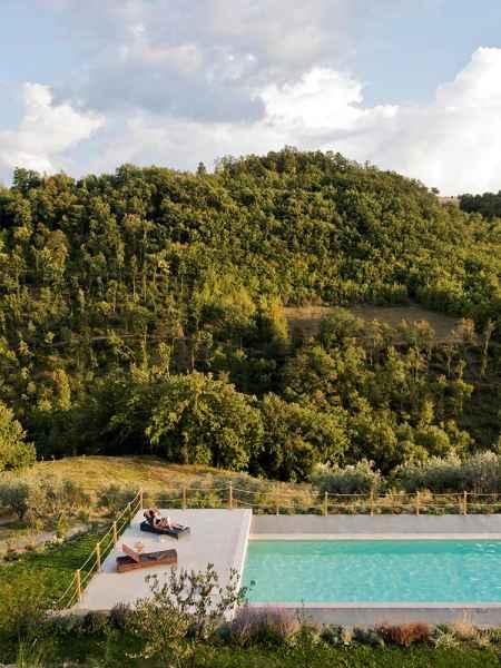 Assise appartement d'hôtes de luxe avec piscine. Gaiattone eco resort Pérouse, Italie